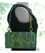 Nine West blue green fabric shoulder bag purse ... - $25.00