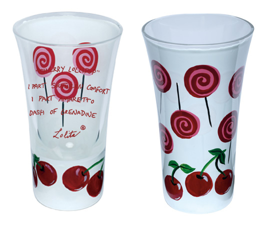 Cherry Lollipop Shooter Glass by Lolita