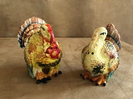 Vintage Turkey and hen Salt & Pepper Shakers tableware thanksgiving holi... - $24.50