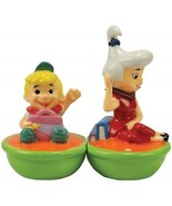 The Jetsons Elroy and Judy in Their Ship Ceramic Salt and Pepper Set, NEW - $25.15