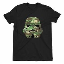 Star Wars Camo Storm Trooper Children's Unisex Black T-Shirt - $14.32