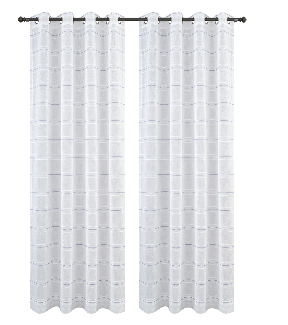 Urbanest Chamon Set of 2 Sheer Curtain Drapery Panels with Grommets image 3