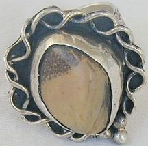 Brown agate ring SR40 - $41.00