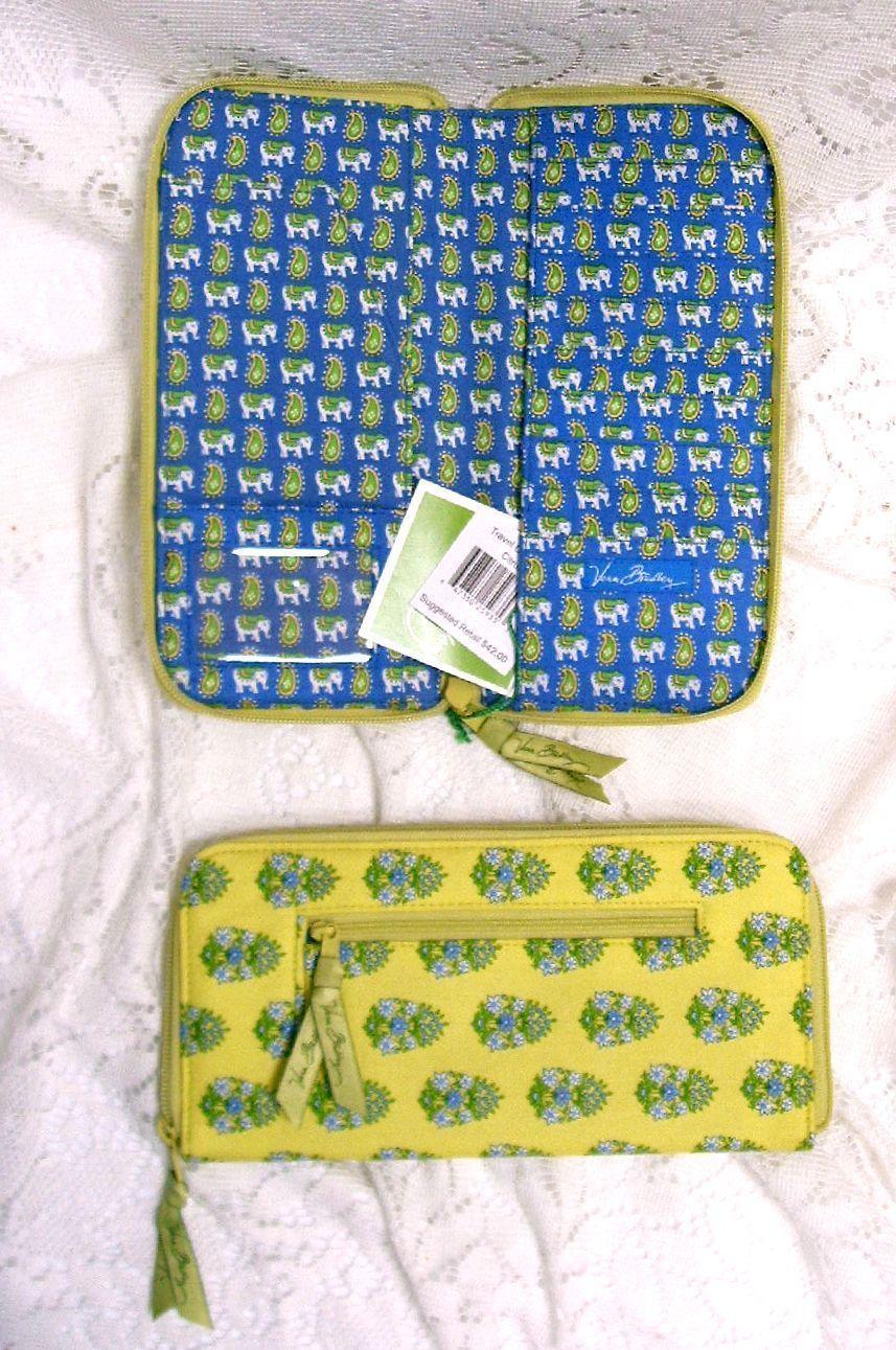 Vera Bradley Travel Organizer Wallet Citrus Zipper Passport id Card Slots Nwt Vera Bradley