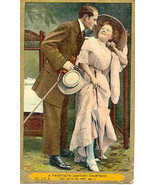 A 20th Century Courtship Comic Vintage Post Card  - $5.00