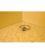 RING WOMEN GEMSTONE BLUE TOPAZ SWIRL SIZE 7 #193 - $9.99
