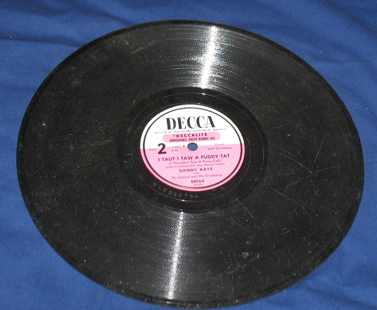 The Little White Duck Record Danny Kaye Decca