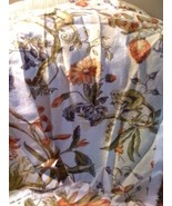 P.Kaufmann Beige Tan Red Blue Monkey Floral Print Fabric Pieces Crafts S... - $9.00