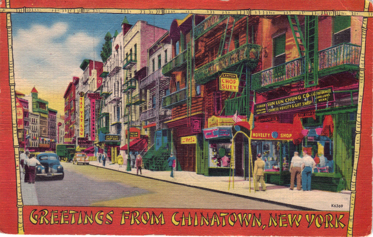 GREETINGS FROM CHINATOWN, NEW YORK POSTCARD