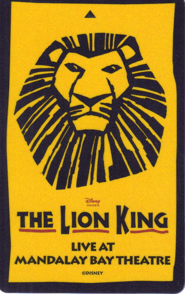 THE LION KING Live At Mandalay Bay Theater Vegas ROOM KEY