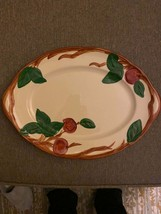 "Franciscan platter Flying ""F"" Apple Hand painted Platter 14 Inces - $38.61"