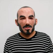 Halloween Party Mask David Beckham Face Masks Real Human Adult Masquerade - $25.50
