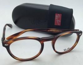 New RAY-BAN Eyeglasses ICONS RB 5283 2144 47-21 Striped Tortoise Round Frames