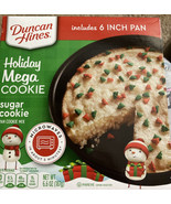 Duncan Hines Holiday Mega Cookie Sugar Pan Cookie Mix Christmas Microwav... - $9.90