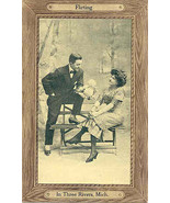 Flirting In Three Rivers Michigan Vintage Post Card  - $5.00