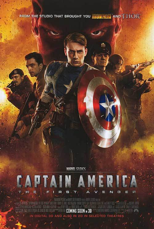 Captain America International Double Sided Movie Poster 27x40 Original