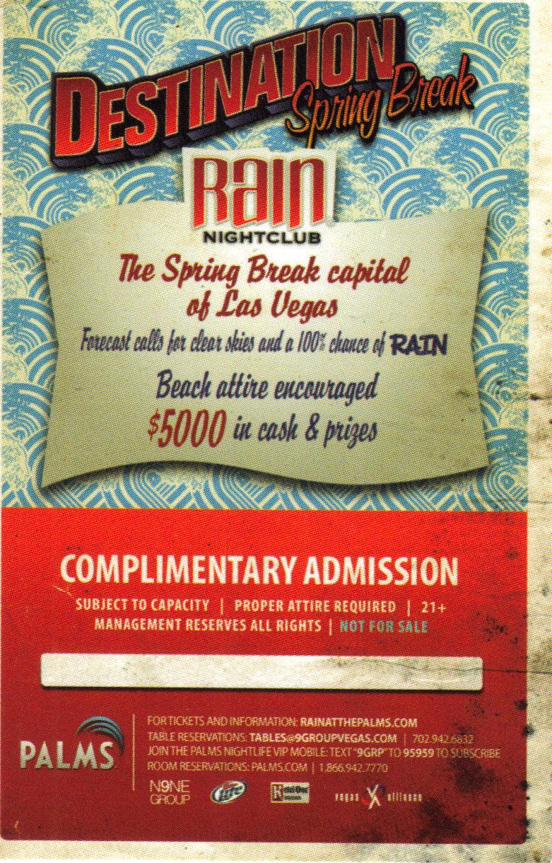 ALISON WAITE - DESTINATION SPRING BREAK: PALMS Promo Card