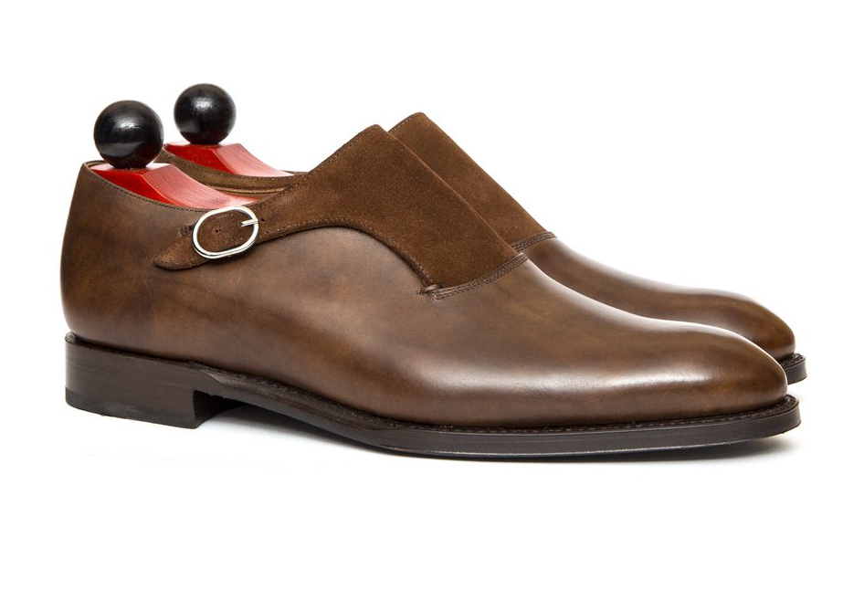Handmade monk strap boots  men formal dress suiting office business shoe