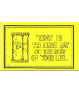 Today Is 1st Day of The Rest of Your Life Vintage Post Card  - $5.00