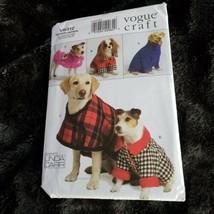 "Vogue V8312 Linda Carr Dog Coats in 4 Styles Sizes XS - XL 7"" - 26"" UNCUT - $15.87"