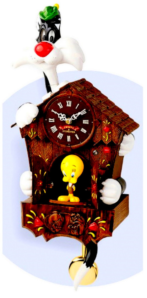 Looney Tunes Sylvester Tweety Animated Talking Cuckoo Clock