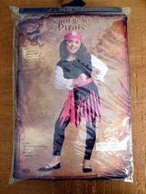 Costume Dress Up Play Girls Caribb EAN Pirate Red/Black Sz Lg 12-14 Nip (T) - $12.99