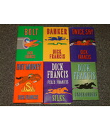 6 Dick Francis books Bolt, Banker, Silks, Hot M... - $12.00