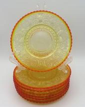 Indiana Glass, Saucers, Sandwich in Sunset, Amberina, circa 1972-73 - $15.00