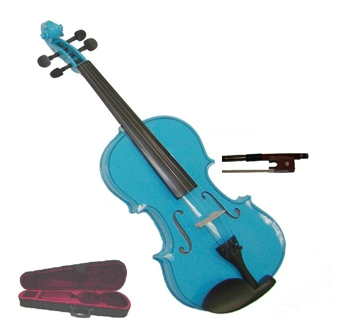 "Crystalcello 13"" Blue Viola with Case and Bow"