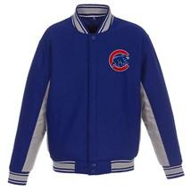 MLB Chicago Cubs JH Design Wool Reversible Jacket Royal Blue Charcoal - $179.99