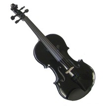Crystalcello 4/4 Size Black Violin with Case and Bow - $35.00