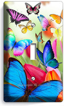 Butterflies Tulips Flowers Floral Light Switch 1 Gang Wall Plate Room Home Decor - $8.99