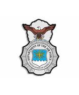 """4"""" AIR FORCE SECURITY FORCES POLICE BADGE MILITARY STICKER DECAL MADE IN... - $16.14"""