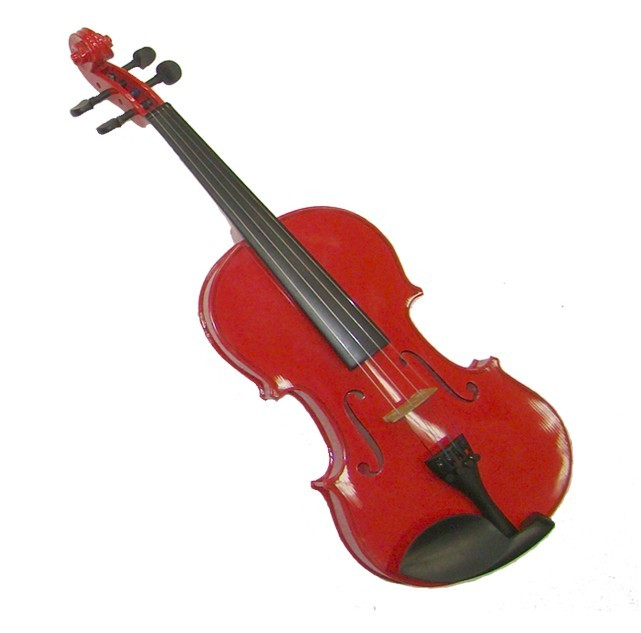 "Crystalcello 12"" Red Viola with Case and Bow"