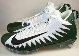 Nike Alpha Menace Pro Mid TD Men's Football Cleats AJ6604, Green / White Size 13 - $29.70