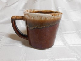 McCoy Pottery Brown Drip D Handle Coffee Cup / Mug USA Vintage - $7.95