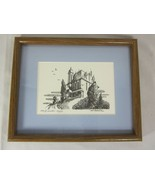 Vintage Print of Large House - signed Von Roessler 58/150 - $148.49