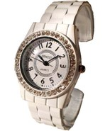 WHITE FASHION CLIP BAND WATCH WHITE DIAL - $13.99