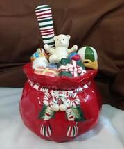 Longaberger Pottery SANTA CHRISTMAS DIP BOWL Cheese Spreader Jam Honey J... - $19.95