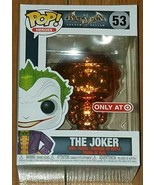 Funko Pop! Heroes #53 Joker Orange Chrome Batman Arkham Asylum Target Ex... - $18.62