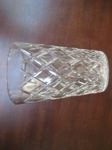 """Large 8.5"""" tall Cut Glass flower vase Wide mouth cut glass flower vase - $56.36"""