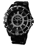 BLACK FASHION METAL BAND WATCH - $13.99