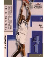 2003 Fleer Genuine Insider Dirk Nowitzki Dallas Mavericks - $2.00