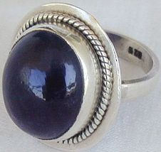Dark purple glass ring thumb200