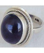 Dark purple glass ring - $33.00
