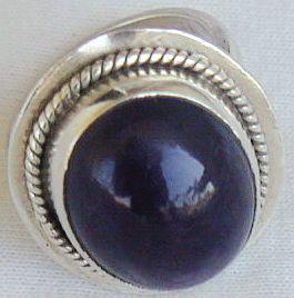 Dark purple glass ring