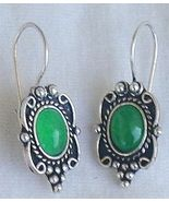 Small green earrings - $15.00