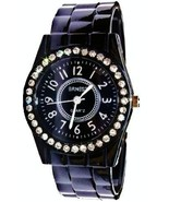 BLACK FASHION CLIP BAND WATCH - $13.99