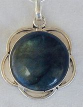 Greenish glass pendant - $45.00