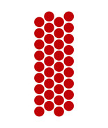 LiteMark Reflective Red 1 Inch Circle Decals - Pack of 36 - $10.95